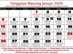 kalender mancing januari 2020 di laut