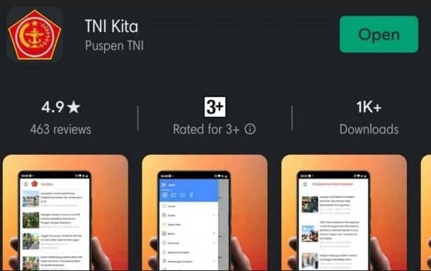Aplikasi Khusus TNI Telah Diluncurkan