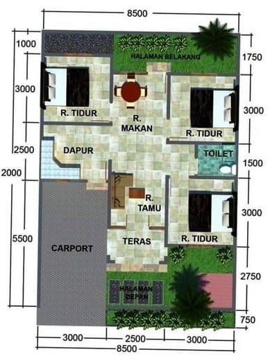 Desain Rumah Minimalis dengan Carport