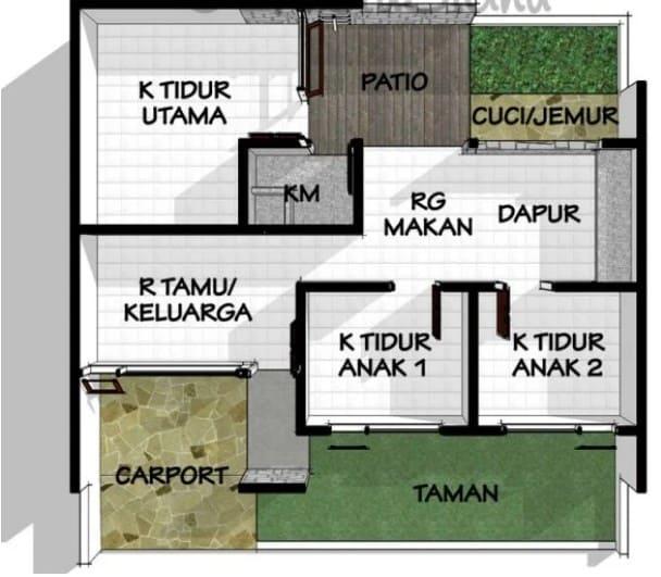 Desain Rumah Modern dengan Ruang Jemur