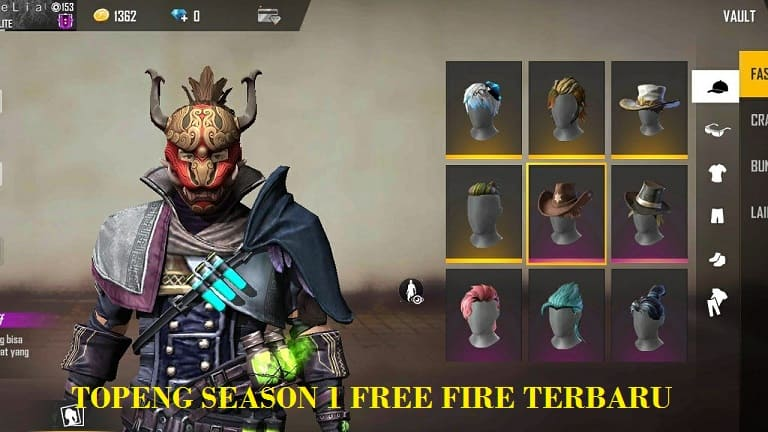 Topeng Season 1 Free Fire Begini Tampilannya Kutip Id