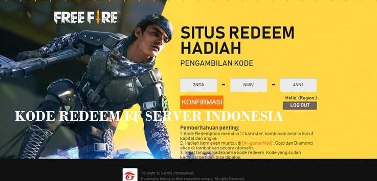 code redeem ff server indonesia