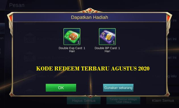 code redeem ml agustus