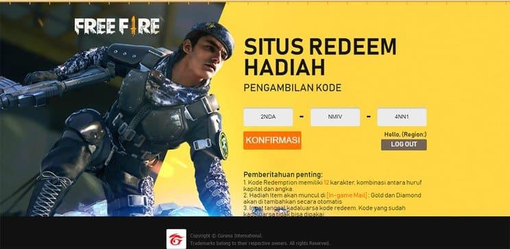 redeem code free fire bundle