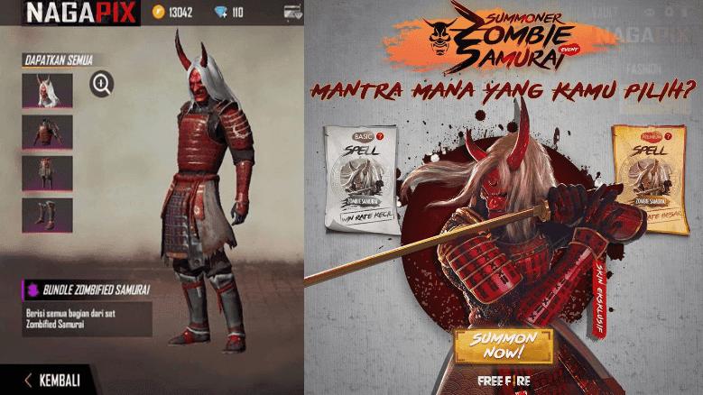 UPDATE ! Kode Redeem FF 13 Agustus 2020 Hari Ini, Bundle Zombi Samurai?