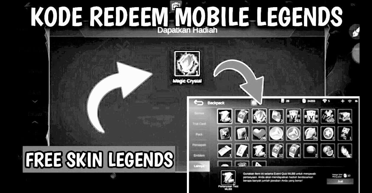 Kode Redeem Mobile Legends ML September 2020 - Kutip ID